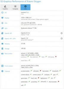 مشخصات دقیق شیائومی Mi Max 2 در بنچمارک GFXBench منتشر شد
