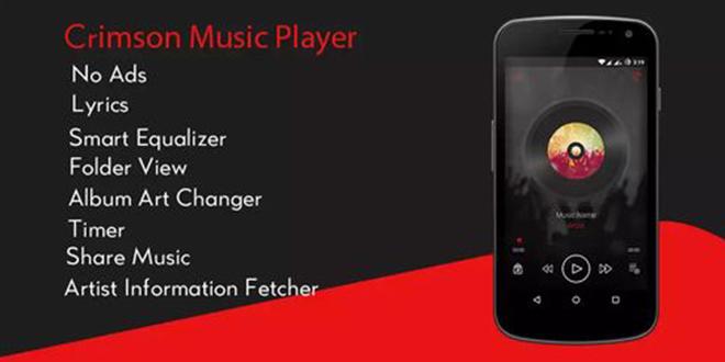 دانلود Crimson Music Player Pro 3.5 – پلیر صوتی مدرن و قدرتمند اندروید!