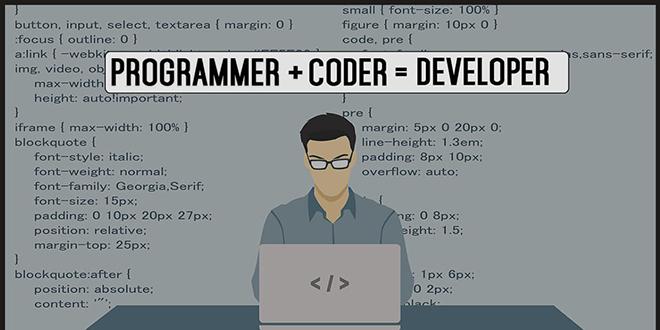 تفاوت بین کدر، برنامه نویس و توسعه دهنده