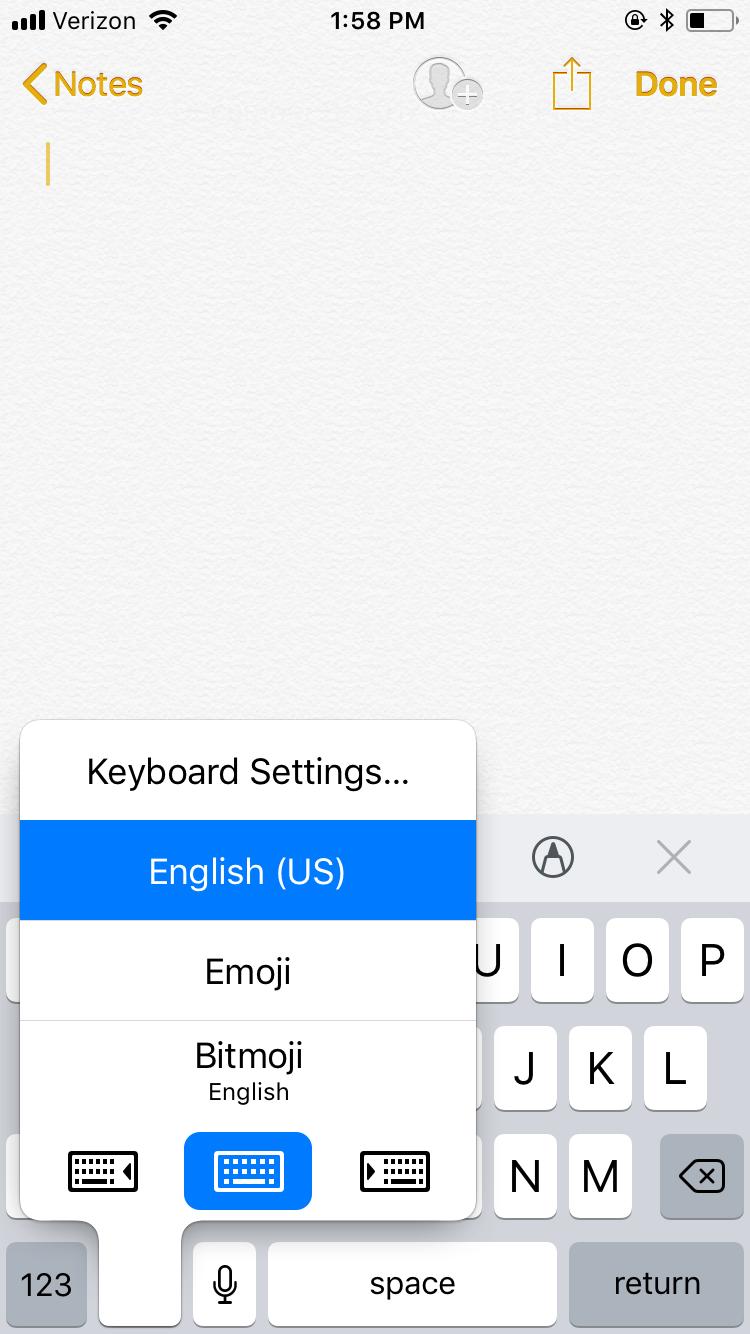 آموزش | ترفند فعال کردن کیبورد پنهان در iOS 11