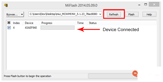 Device-connected-to-Xiaomi-Mi-Flash-Tool